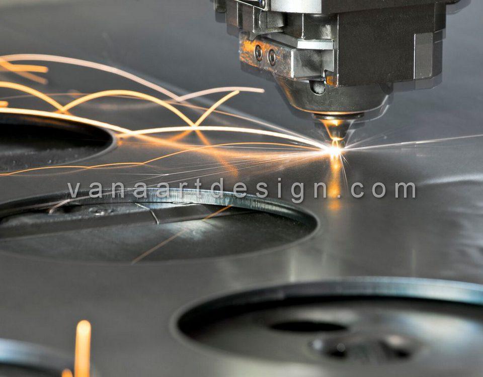 برش لیزری با دستگاه برش CNC