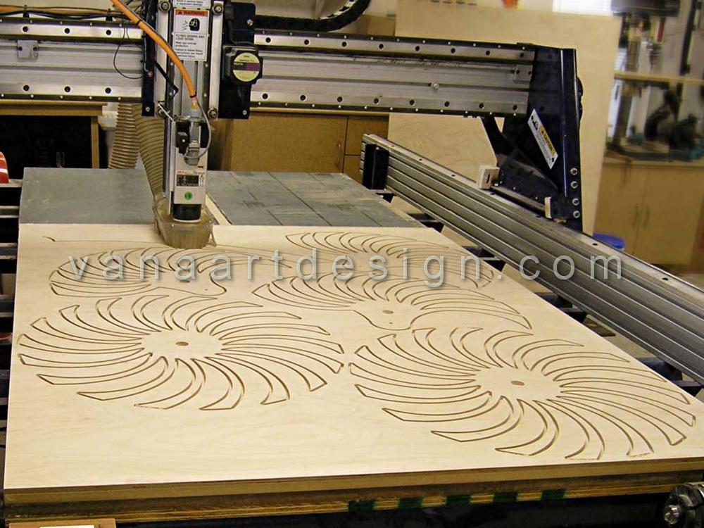 سی ان سی CNC چوب